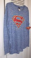Superman Juniors Sweater Blue With White Xg 15/17