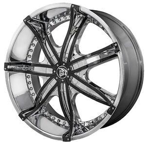 24 Inch 24x10 Diablo Dna Chrome Wheel Rim 5x130 35 Ebay