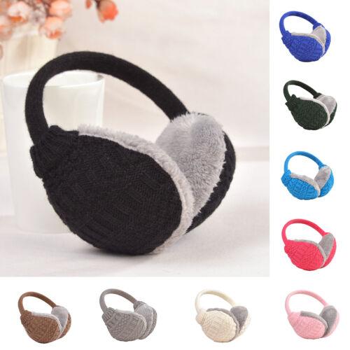 UK_ Cozy Design Fluffy Winter Adjustable Earwarmers Knitted Warm Ear Muffs Rakis