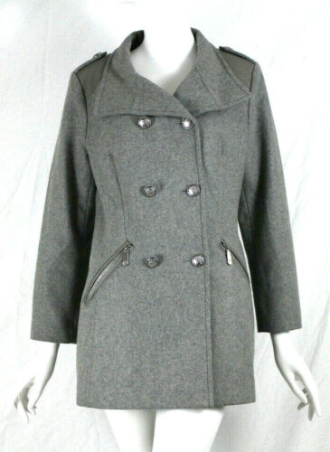 Taille Medium Double Breasted Manteau Camuto Med Peacoat Military M Gris Vince PnxHTtwE