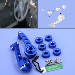 2x-Universal-Blue-Chrome-Aluminum-Car-SUV-Window-Door-Winder-Crank-Handles