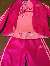 ADIDAS Youth Girls Kids Matching Warmup Athletic Outfit Set Size 6X Pink NWT!