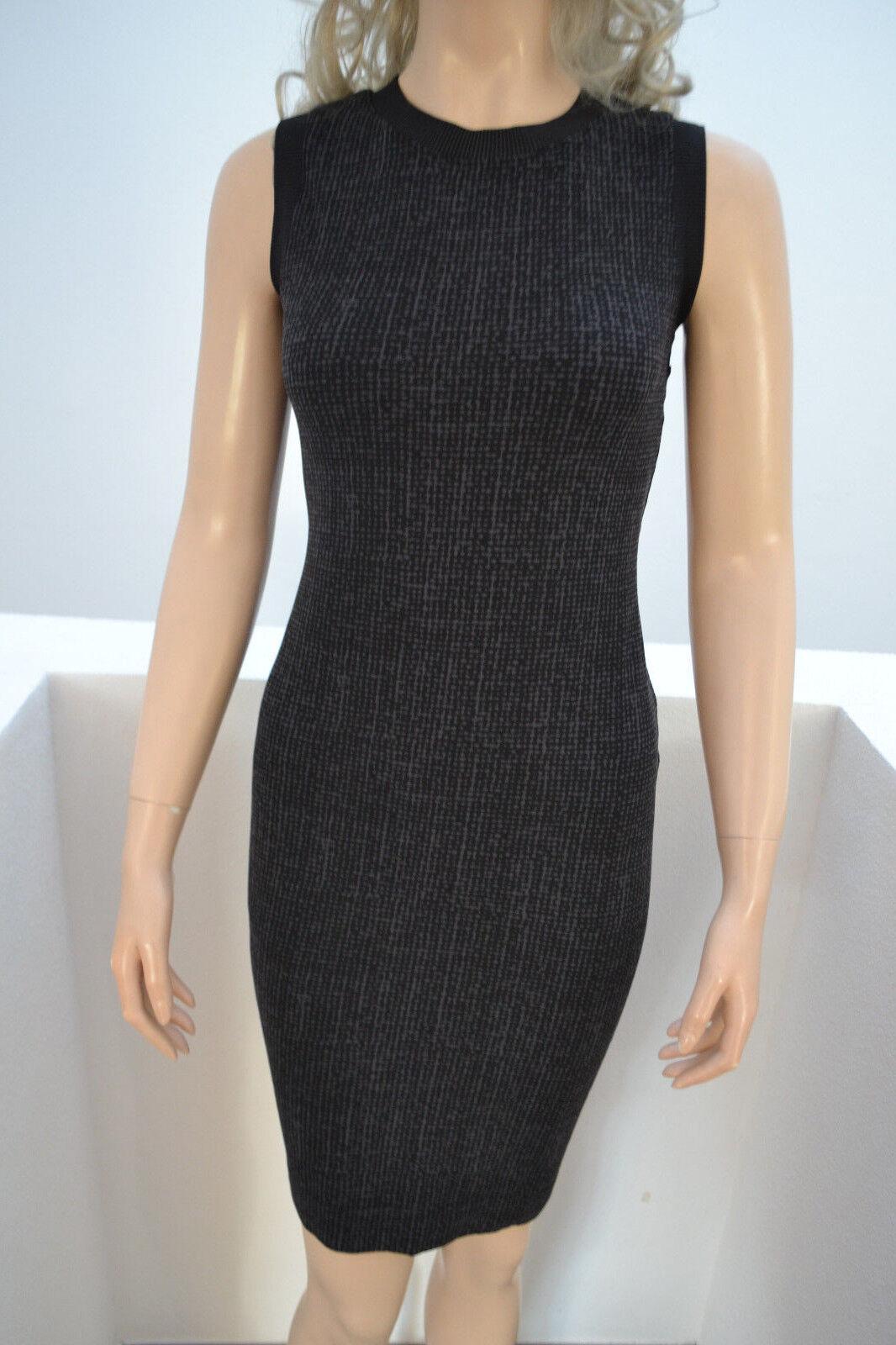 Wolford Harris Tweed-Optik Kleid Dress grau schwarz Small Velvet Mix