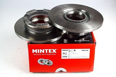 2X MINTEX REAR DISC BRAKES MDC1808 FOR FORD TRANSIT 2.2 TDCi TOURNEO 2.2 TDCi
