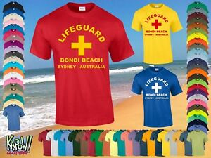 ebda1285c1c LIFEGUARD Men s Rescue Custom T-SHIRT Surf Surfer Baywatch Swimming ...