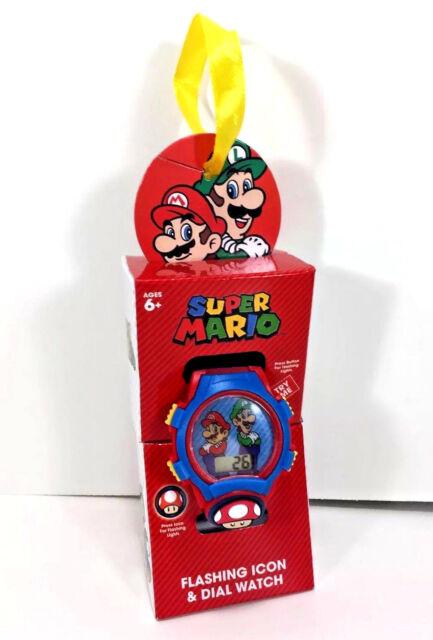 NW Super MARIO & LUIGI Flashing Icon Dial Kids WATCH Award Gift Graduation Party