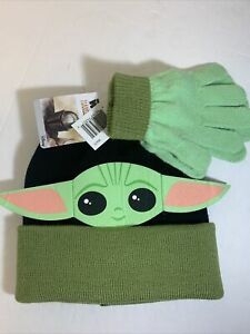 Baby-Yoda-Disney-Star-Wars-The-Mandalorian-Children-Hat-Gloves-Set