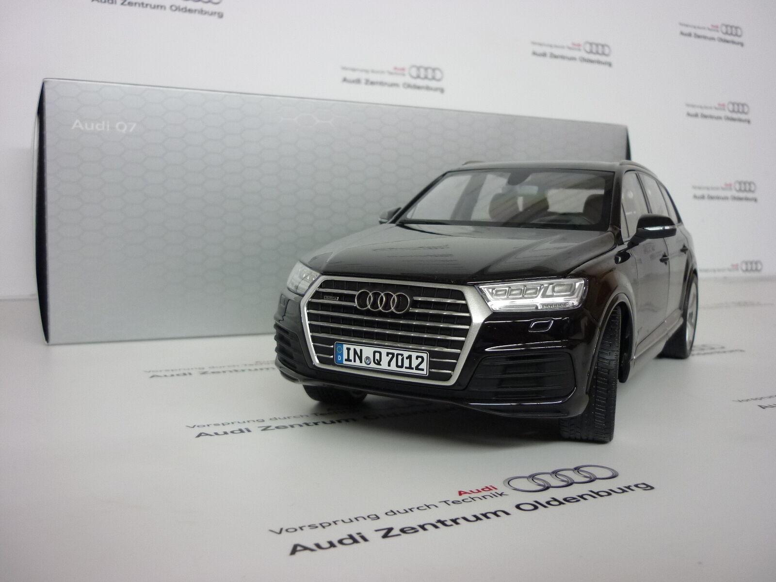 Original Audi Coche a Escala, Q7, 1 18 , Orcablack, Nuevo Embalaje