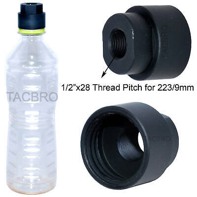 1//2x28 TPI Cleaning Patch Trap Adapter Muzzle Soda Pop bottles Black Color Clean
