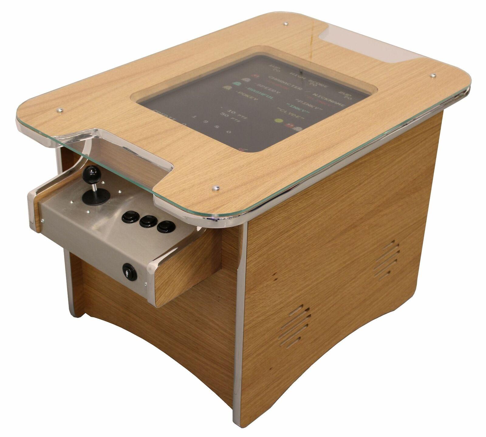 Oak Retro Arcade Coffee Table Arcade Machine | 60 retro games | 1yr Warranty