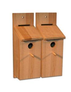 2 Nistkasten Für Meisen Bausatz Meisenkasten Vogelhaus Vögel Selberbauen Basteln Ebay