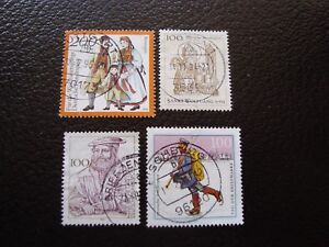 Germany-Rfa-Stamp-Yvert-and-Tellier-N-1593-A-1596-Obl-A5-Z