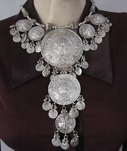 Statement-Bib-Choker-Coin-Necklace-Fashion-Jewelry-Boho-Gypsy-Tribal-Belly-dance