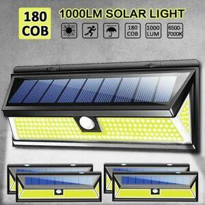 4-un-180-LED-Energia-Solar-Sensor-De-Movimiento-PIR-Luz-De-Pared-Jardin-Exterior-Lampara-De-Patio