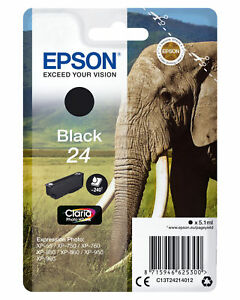 NEW! Epson Claria 24 Photo Hd Original Ink Cartridge Black Inkjet 240 Pages