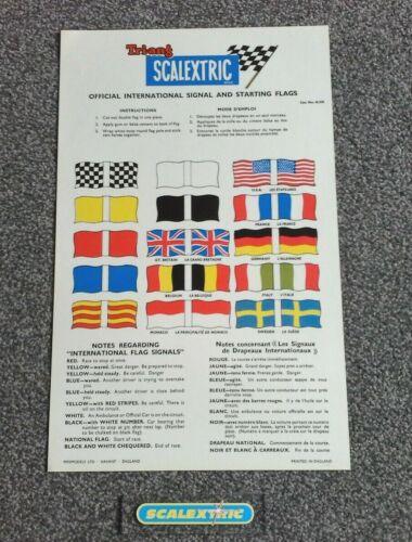 ORIGINAL SCALEXTRIC 60s A235 OFFICIAL INTERNATIONAL SIGNAL /& STARTING FLAGS MINT