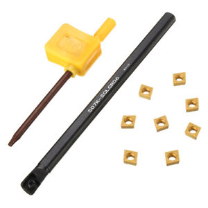 S07k-sclcr 06 tornos perforación barra soportes de fijación +8 ccmt 0602 placas de inflexión + clave
