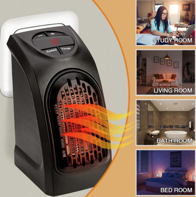 Portable Electric Space Heater 3 Settings 1500w Fan Forced