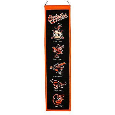 Mlb Baseball Baltimore Orioles O's Heritage Banner Großer Wimpel Pennant Wolle Heller Glanz Weitere Ballsportarten Baseball & Softball