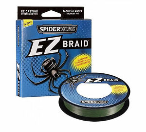 Spiderwire-EZ-Braid-Moss-Green-Spinning-Saltwater-Fishing-300yds-All-Sizes