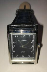 Bergmann-1920-Orologio-da-polso-da-Uomo-Orologio-con-quarzo-fabbrica-PELLE-WATCH-AG