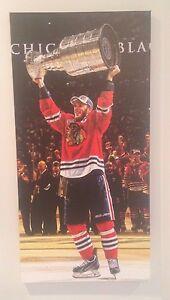 2015-Jonathan-Toews-canvas-14x28-Chicago-Blackhawks-Frameworth-w-Stanley-Cup