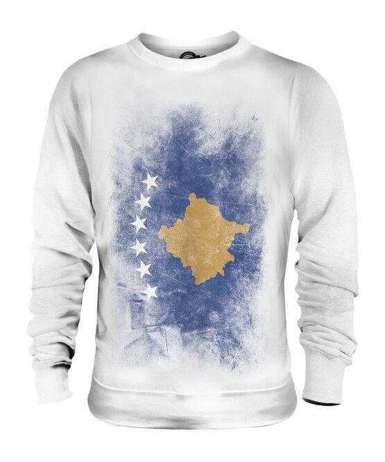 KOSOVO VERBLICHEN FLAGGE UNISEX SWEATER PULLOVER PULLI SWEATSHIRT HERREN DAMEN