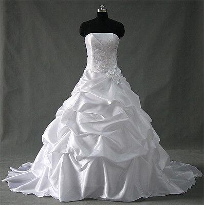Brautkleid Hochzeitskleid  Weiß / Gr.34 bis 54  Neu
