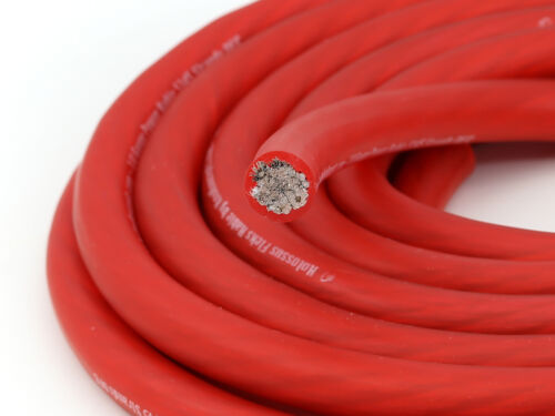 KnuKonceptz Kolossus Flex 4 Gauge Red OFC Power Wire 2058 Strands of Copper