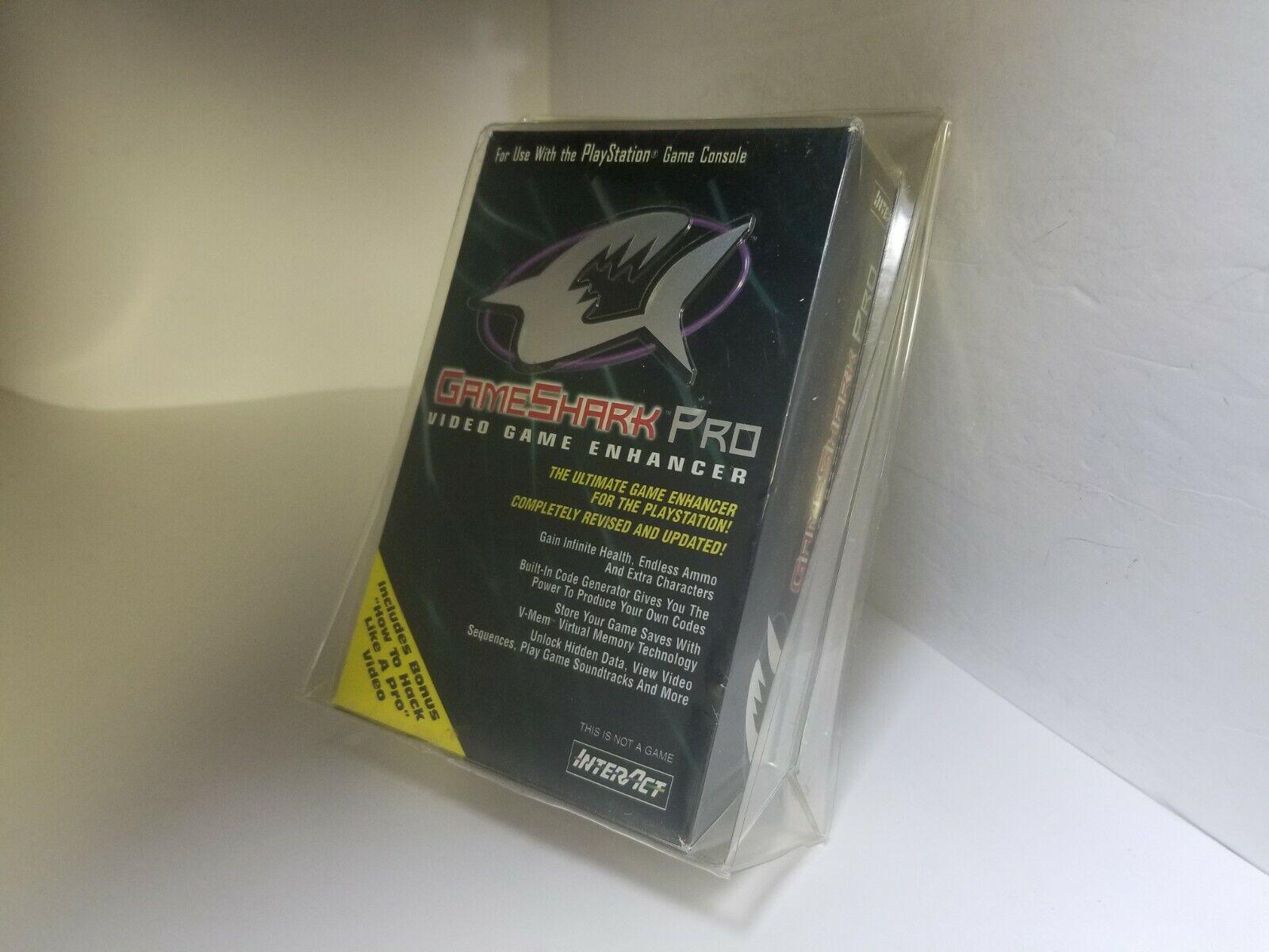 NEW W/Creased box GameShark Pro V3.0 PlayStation 1 + VHS PS1 SV-1104E #U16