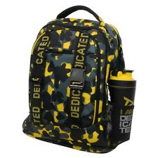 Dedicated Nutrition Premium Black /& Yellow Gym Bag with FREE Headphones!
