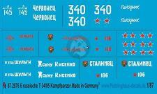 Peddinghaus-Decals 1//87 2739 T34 und KV 1 der russischen Armee