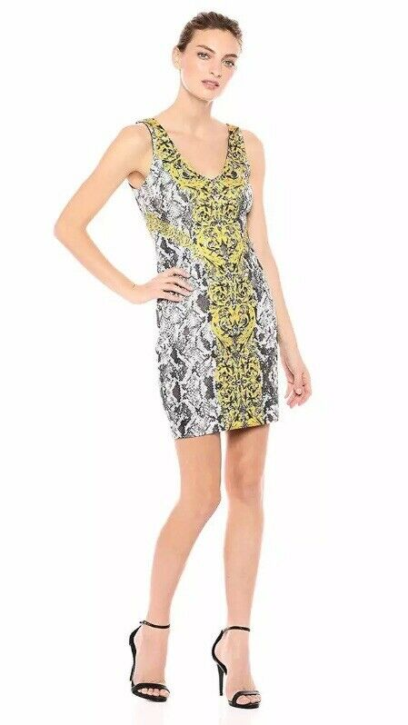 Guess Woherren Sleeveless Snake Medallion Dress - Größe L