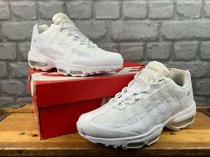 Nike Da Uomo Air Max 95 se Ultra Bianco Grigio Scarpe Da Ginnastica Rrp £ 140 Varie Taglie