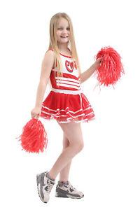 CHILDREN-CHEERLEADER-CHEERS-GIRLS-VEST-SKIRT-SCHOOL-BOOK-DAY-WEEK-COSTUME-OUTFIT