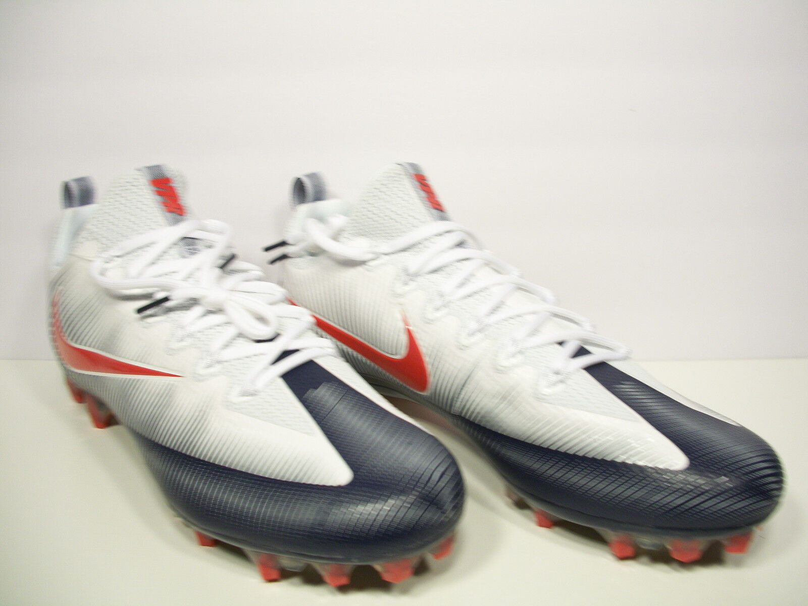 NIKE Vapor Untouchable Pro Football Cleats 925423-419 Red bluee White Size 12.5