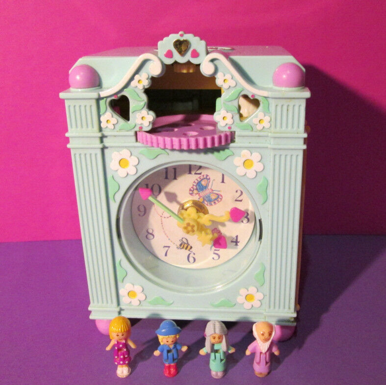 Polly Pocket Mini ♥ bonitos reloj ♥ Funtime Clock ♥ 100% complete ♥ 1991 ♥