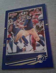 2020-Donruss-Press-Proof-Variation-Blue-Jared-Goff-141-Los-Angeles-Rams