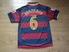 Arsenal #6 Senderos 100% Original Jersey Shirt 2007/08 3rd L MINT Rare