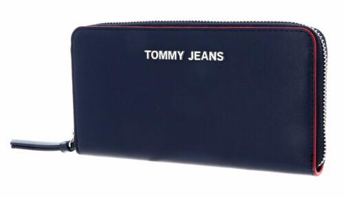 TOMMY HILFIGER TJW Femme Large Zip Around Wallet Geldbörse Corporate Blau Rot