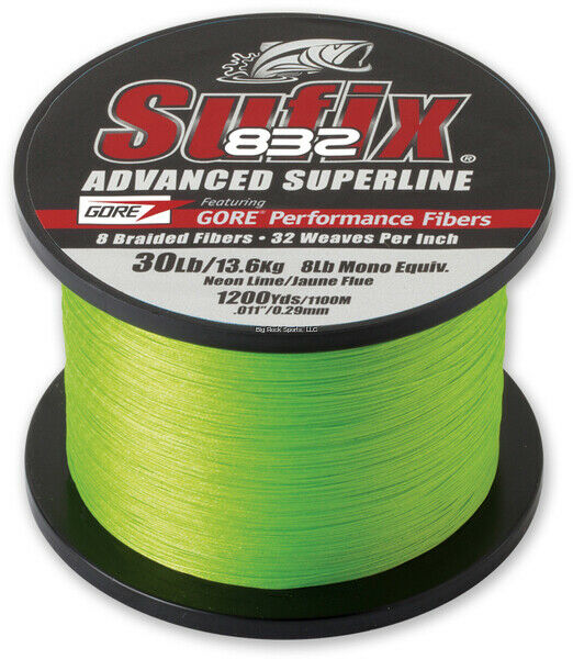 Sufix  832 Advanced Superline Neon Lime 50lb 1200yds - 660-380L  online sales