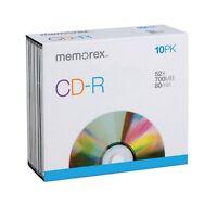 Memorex Blank Cd-r Video 80 Min 700 Mb Shrinkwrapped 10/pack on sale