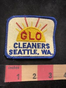 Vtg-circa-1970s-GLO-CLEANERS-SEATTLE-WASHINGTON-Advertising-Patch-O80N