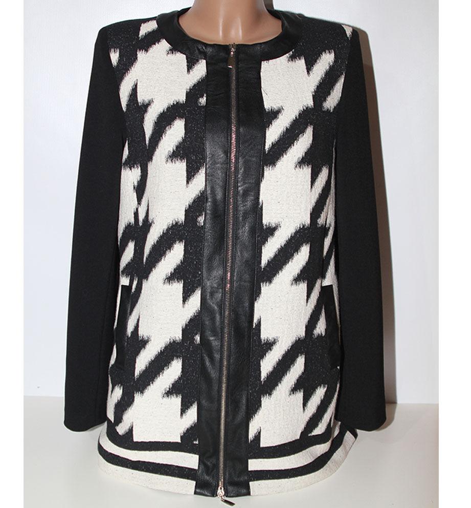 c8edffc15bb5c9 Jacke Mantel digital in 48 Baumwolle Schwarz-Weiss Frau Made  nnkaqu2961-neue Kleidung