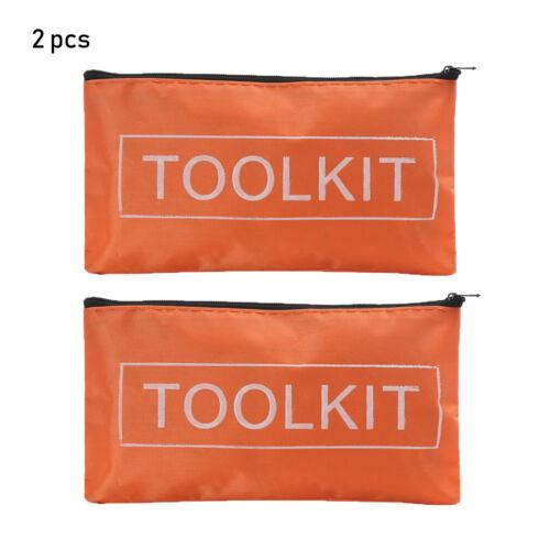 Imperméable 1//2//3pcs Tissu Oxford Outil Sac à Fermeture Éclair stockage instrument Case étui