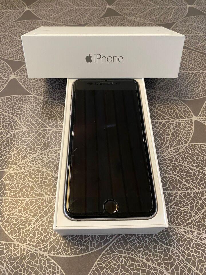 iPhone 6 Plus, 128 GB, sort