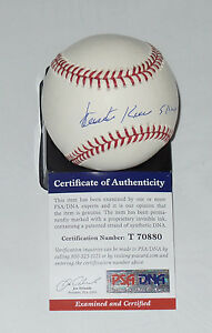 VICENTE ROMO AUTO'D SIGNED BASEBALL PSA/DNA COA DODGERS RED SOX WHITE PADRES