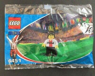 2002 Lego Coca Cola Japão Coca-cola Jogador De Futebol Branco Mini Boneco Lacrado Raro 4451