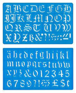 30-mm-Old-English-Upper-minusculas-del-alfabeto-numeros-plantilla-plantilla-Set-Mb