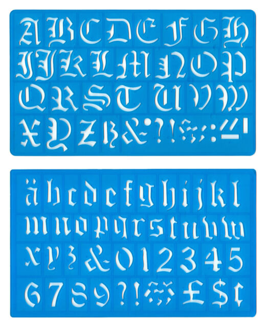 Helix old english alphabet stencil set 30mm ebay helix old english alphabet stencil set 30mm altavistaventures